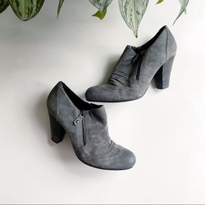 Franco Fortini Oliver Suede Zip Up Booties Gray